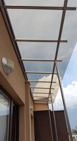 Навес от алуминиева конструкция и плътен поликарбонат - 02 - Алутрейдинг ЕООД - Пловдив