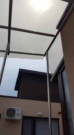 Навес от алуминиева конструкция и плътен поликарбонат - 03 - Алутрейдинг ЕООД - Пловдив