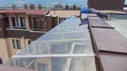 Навес от алуминиева конструкция и плътен поликарбонат - 06 - Алутрейдинг ЕООД - Пловдив