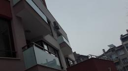 9 - Алуминиеви парапети с масово стъкло и квадратни профили - Алутрейдинг ЕООД - Пловдив