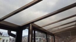 8 - Навес с плътен поликарбонат и алуминиева конструкция - Алутрейдинг ЕООД - Пловдив