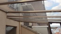 6 - Навес с плътен поликарбонат и алуминиева конструкция - Алутрейдинг ЕООД - Пловдив