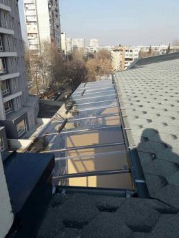 2 - Навес с плътен поликарбонат и алуминиева конструкция - Алутрейдинг ЕООД - Пловдив